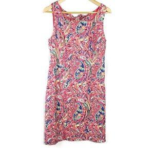 Talbots paisley print dress size 10